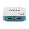 Универсальный внешний аккумулятор 7800 мАч (R0007770) (белый с синим) - Внешний аккумуляторУниверсальные внешние аккумуляторы<br>Универсальный внешний аккумулятор 7800 мАч, 2 USB выхода 1А + 2,1А<br>