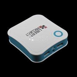 Универсальный внешний аккумулятор 7800 мАч (R0007770) (белый с синим)