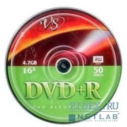 Диски VS DVD+R 4.7Gb 16x Сake Box (50шт) (VSDVDPRCB5001)