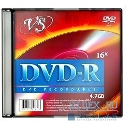 ���� VS DVD-R 4.7Gb 16x Slim Case (5��) (VSDVDRSL501)