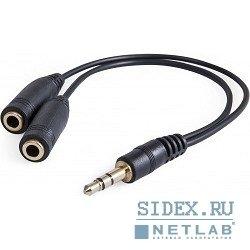 Аудио-переходник Jack 3.5mm - 2xJack 3.5mm (DEFENDER 63001)