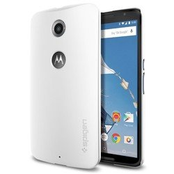 чехол-накладка для google (motorola) nexus 6 spigen thin fit series (sgp11233) (белый)