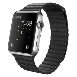 Apple Watch 42mm with Leather Loop (черный) :
