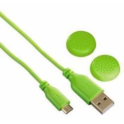 Зарядный кабель для беспроводных контроллеров Sony Dualshock 4 (Hama SuperSoft) (зеленый)