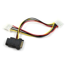 кабель molex 4pin - sata 15pin (greenconnect gc-st206)