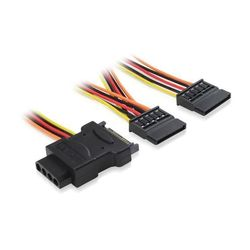 Кабель Molex 4pin - 2xSATA 15pin (Greenconnect GC-ST207)