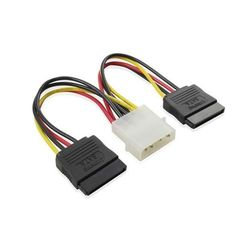 Кабель Molex 4pin - 2xSATA 15pin (Greenconnect GC-ST205)