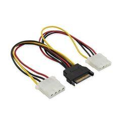 Кабель 2xMolex 4pin - SATA 15pin (Greenconnect GC-ST212)