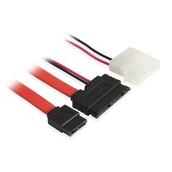 Кабель micro SATA - SATA II, Molex 4pin (Greenconnect GC-ST307)