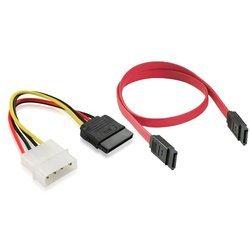 Кабель SATA 7pin - SATA 7pin + SATA 15pin - Molex 4pin (Greenconnect GC-ST101+ST201)