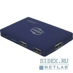 устройство считывания usb 2.0 card reader, w all-in-one + hub 3port usb 2.0,  ext. orient (co-730) sdhc ready