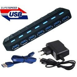 Концентратор USB 3.0 Orient BC-316 (черный)