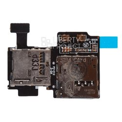 Шлейф для Samsung Galaxy S4 i9500 (считыватель SIM, Flash) (SM001580)