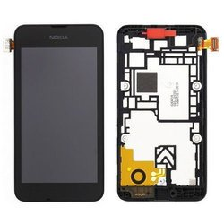 Дисплей для Nokia Lumia 530 в рамке с тачскрином (0L-00000880) (черный)