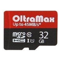 oltramax  microsdhc class 10 uhs-1 45mb/s 32gb + sd adapter