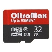 oltramax  microsdhc class 10 uhs-3 95mb/s 32gb + sd adapter