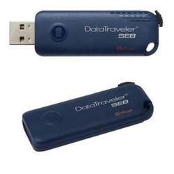 kingston datatraveler se8 64gb (синий)