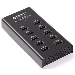 Универсальное сетевое зарядное устройство 10xUSB ORICO DUB-10P-BK (черный)