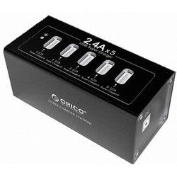 Универсальное сетевое зарядное устройство 5xUSB ORICO DUB-5P-BK (черный)