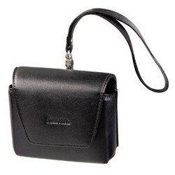 Универсальная кожаная сумка для навигаторов (Hama Premium S1 H-86982) (черный)