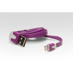 Дата-кабель Lightning - USB для Apple iPhone 5, 5C, 5S, 6, 6 plus, iPad 4, Air, Air 2, mini 1, mini 2, mini 3 (IQFUTURE IQ-AC01/V) (фиолетовый)