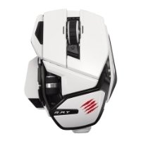 mad catz office r.a.t. wireless mouse for pc, mac, android white usb