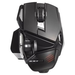 mad catz office r.a.t. wireless mouse for pc, mac, android gloss black usb