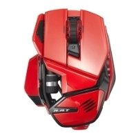 mad catz office r.a.t. wireless mouse for pc, mac, android red usb