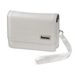 "Кожаная сумка для навигаторов 4.3"" (Hama Black&White S2 H-93756) (белый)"