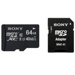 Карта памяти Sony MicroSDXC 64GB Class 10 + адаптер (Sony SR64NYAT)