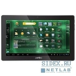 "планшетный компьютер perfeo 1016-hd tablet pc,  10.1"",  1,  16,  android 4.1,  1.5 ghz dual core,  wi-fi,  3g data,  black"