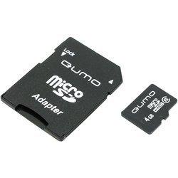 QUMO microSDHC Class 6 4Gb + SD адаптер (QM4GMICSDHC6)