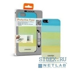 чехол canyon cna-i5c02g iphone5 iml case with stylus and screen protector,  green,  retail external color: green