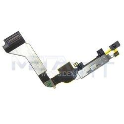 Шлейф для Apple iPhone 4 с коннектором зарядки (10047) (белый)