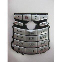 Клавиатура для Motorola E1 (14279) (серебристая)