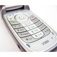 Клавиатура для Motorola V360 (14286) (серебристо-зеленая)