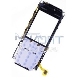 Подложка клавиатуры для Nokia 5310 с защитным стеклом в металлической рамке (8672)