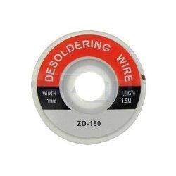 Плетенка для снятия припоя ZD-180 (14611) (1.0 мм)