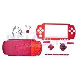 Корпус в сборе для Sony PSP 2000 красный