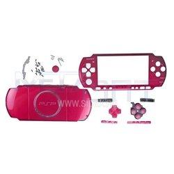 Корпус в сборе для Sony PSP 3000 красный