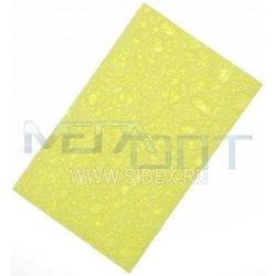 Губка для очистки паяльников (11108) (увлажненная, желтая)