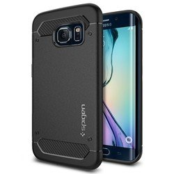клип-кейс для samsung galaxy s6 edge spigen case rugged armor (sgp11414) (черный)