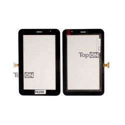 Тачскрин для планшета Samsung Galaxy Tab 7.0 Plus P6200 (TopON TOP-SGT-P6200) (черный)