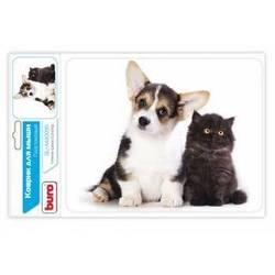 Коврик для мыши (Buro BU-M40095) (котенок и щенок)