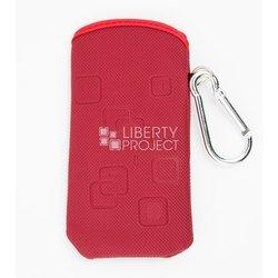 Универсальный чехол-футляр с карабином для телефонов (CD001625) (бордовый)