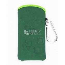 Универсальный чехол-футляр с карабином для телефонов (CD001623) (зеленый)