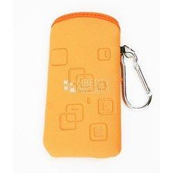 Универсальный чехол-футляр с карабином для телефонов (CD001624) (оранжевый)