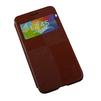 Кожаный чехол-книжка для Samsung Galaxy Alpha G850 (R0007497) (коричневый) - Чехол для телефонаЧехлы для мобильных телефонов<br>Плотно облегает корпус и гарантирует надежную защиту от царапин и потертостей.<br>
