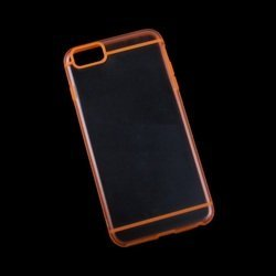 "Чехол-накладка для Apple iPhone 6 Plus, 6s Plus 5.5"" (R0006707) (оранжевая с полосками, прозрачная задняя часть)"
