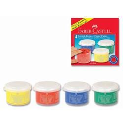Краски пальчиковые Faber-Castell 160402 (4 цвета) картонная коробка
